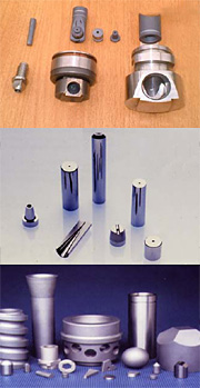 Tungsten Carbide nozzles, valves and bearing components for the Fluid, Slurry and Sewage Industries